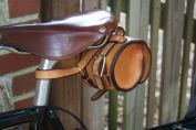One-strap bag attached to Brooks saddle.