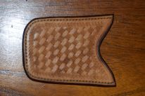 Alternative stamping pattern on card holder.