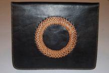dark leather with tan kangaroo braid