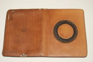 natural oiled case with black kangaroo braid overly