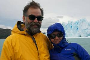 With my wife in Parque Nacional Los Glaciares, Argentina.