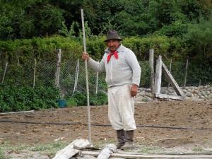 Gaucho in Cuyin Manzano, Patagonia.