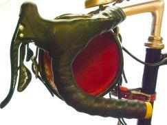 Detail of bag mounted on bike