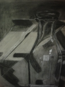 Charcoal drawing from art school in 1986.