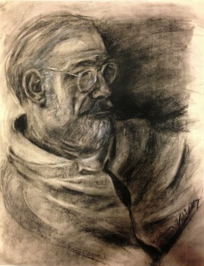 Charcoal drawing I did for my Dad's birthday in 1987.