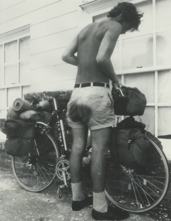 Riding the Lewis & Clark trail in the summer of 1979. Photo by Dennis Coello.