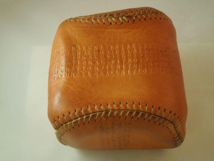 Hand made ball-like object.