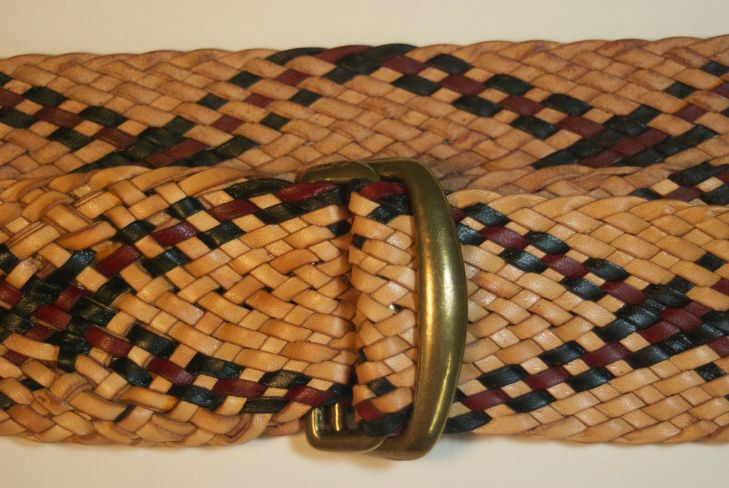 "Details of  braided 20 strand 1.5"" belt. My cost for the kangaroo leather is about $60."