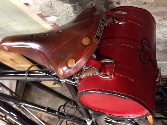 My bike bag on my wonderful Brooks saddle.