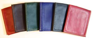 Semi-automatic: Kangaroo wallets, hand stitched, all hand made, but I've made a bunch of them.