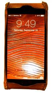 Handmade kangaroo leather iPhone 6 case