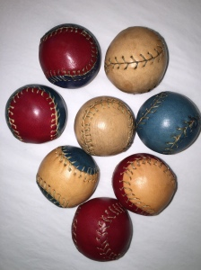 My new leather balls.