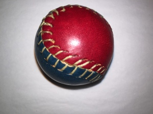 Hand made leather ball