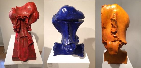 Jan Koblasa: 3 faces with tongues sticking out. This was in a Prague gallery that I visited (without my sketchbook!).