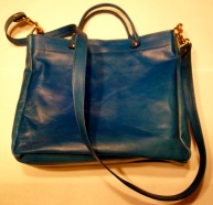 Kangaroo leather bag with shoulder strap
