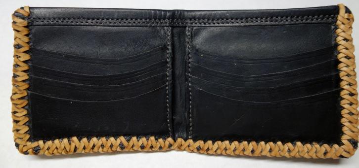 Full inside view of new bifold wallet design