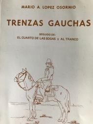 Gaucho rawhide braiding book given to me by my friend Jorge