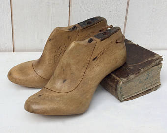 Wooden lasts that form the foundation of boots